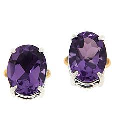 Bali Designs Sterling Silver and 18K Gemstone Scroll Stud Earrings