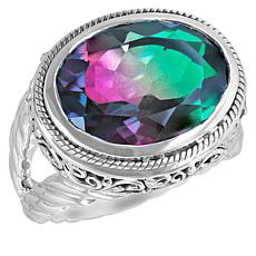 Bali Designs Watermelon Quartz Triplet Cable Ring