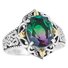 Bali Designs Watermelon Quartz Triplet Scroll Ring