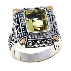 Bali RoManse 3ct Lemon Quartz Rectangle Ring