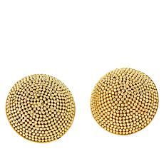 Bali RoManse Gold-Plated Sterling Silver Bead Textured Stud Earrings