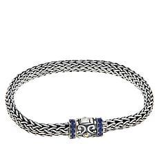 Bali RoManse Lab-Created Sapphire Tulang Naga Bracelet
