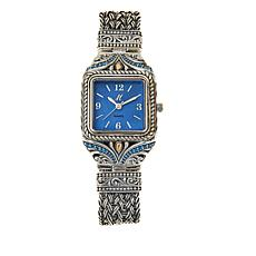 Bali RoManse Mother-of-Pearl Square Face Bracelet Watch