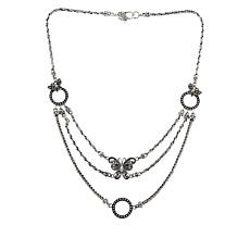 Bali RoManse Sterling Silver and 18K Butterfly Statement Necklace