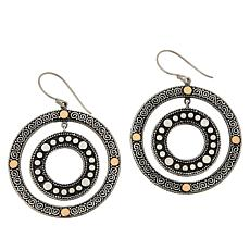 Bali RoManse Sterling Silver and 18K Two-Tone Circle Earrings