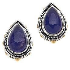Bali RoManse Sterling Silver Pear-Shaped Tanzanite Stud Earrings