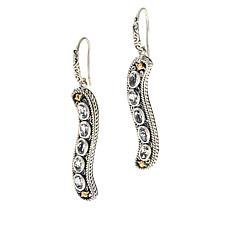 """Bali RoManse """"Waterfall""""  Sterling Silver and 18K Gem Drop Earrings"""