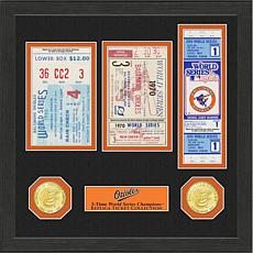 Baltimore Orioles 3-Time World Series Ticket Collection