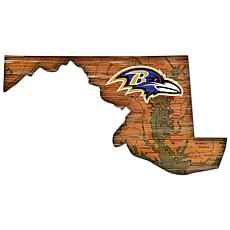 Baltimore Ravens Distressed State with Logo