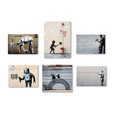 Banksy Wall Collection' Multi-Panel Art