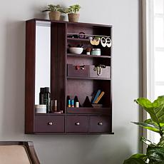 Barstow Over-the-Door Makeup Mirror/Accessory Organizer