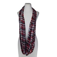 Basha Red Plaid Eternity Scarf