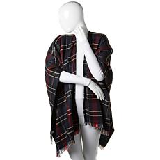 Basha Reversible Plaid Ruana