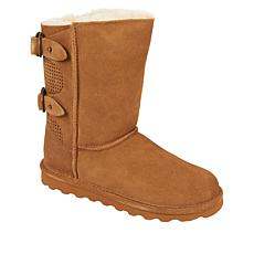 BEARPAW® Clara Suede Sheepskin Buckled Boot with NeverWet™