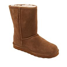 BEARPAW® Elle Short Suede Sheepskin Boot with NeverWet™ - Wide