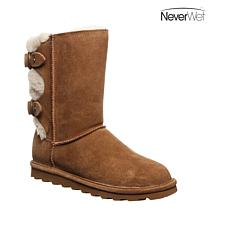 BEARPAW® Eloise Suede Sheepskin Buckled-Back Boot with NeverWet™