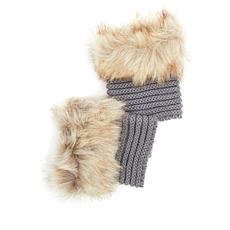 BEARPAW® Knit Boot Toppers with Faux Fur Cuff