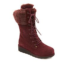 BEARPAW® Kylie Suede Perforated Boot with NeverWet™