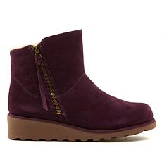 BEARPAW® Megan Suede Wedge Bootie with NeverWet™