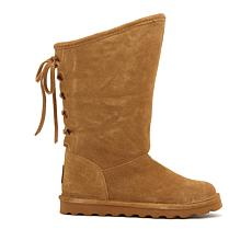 BEARPAW® Phylly Suede Laced-Back Boot with NeverWet™ - Wide
