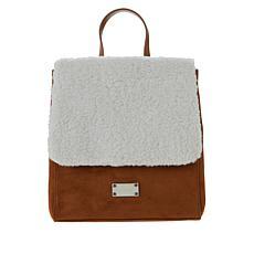 BEARPAW® Shearling Flap Mini Backpack