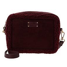 BEARPAW® Shearling Trim Camera Bag