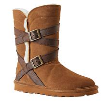 BEARPAW® Shelby Suede Belted Boot with NeverWet™