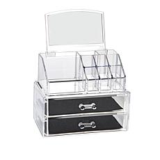 Beauty & Jewelry Organizer with Mirror and 2 Drawers