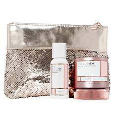 BeautyBio The Quench Cream & The Balance Cleanser with Sequin Bag