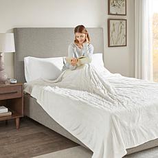 Beautyrest Heated Knitted Microlight Blanket-Queen