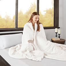 Beautyrest Heated Microlight to Berber Knitted Blanket - King