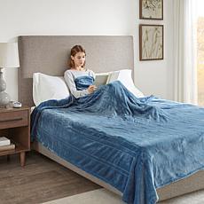Beautyrest Heated Plush Knitted Microlight Blanket-Twin