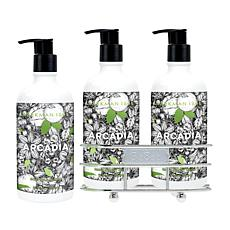 Beekman 1802 Arcadia Hand Wash and Lotion Caddy Set