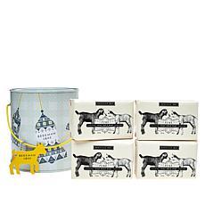 Beekman 1802 Goat Milk 4-Piece Bar Soap Set with Pail - Pure Goat Milk