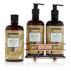 Beekman 1802 Sweet Grass Hand Wash & Lotion Caddy Set