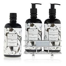 Beekman 1802 Vanilla Absolute Hand Wash & Lotion Caddy Set
