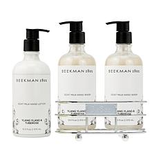 Beekman 1802 Ylang Ylang & Tuberose Hand Wash & Lotion Caddy Set