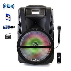 """beFree Sound 12"""" Bluetooth Portable Party Speaker w/Reactive Lights"""