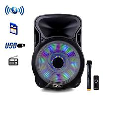 "beFree Sound 15"" Bluetooth Rechargeable Party Speaker With Illumina..."