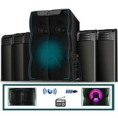 beFree Sound 4.1ch Configurable Multimedia Speaker System w/Lights