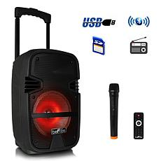 "beFree Sound 8"" 400W Bluetooth Portable Party PA Speaker with Lights"