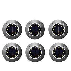 Bell + Howell Disk Lights Deluxe Solar Lights 6-pack