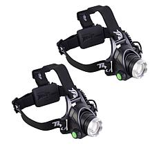 Bell + Howell High Performance DLX TacLight Headlamp 2-pack