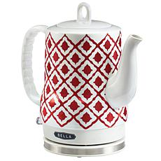 Bella Ceramic Electric Kettle - Ikat Red