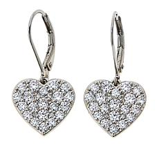 BellaMoi 1.6ctw Created Moissanite Heart Drop Earrings
