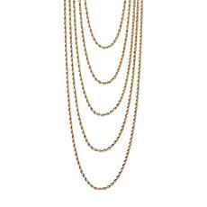 "Bellezza 16"" Bronze Multi-Row Rope-Link Necklace"