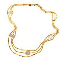 "Bellezza 200 Lira Coin Triple-Strand 36"" Box Necklace"