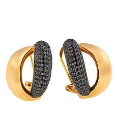 Bellezza 2.82ctw Black Spinel Bronze Knot Earrings