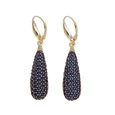 Bellezza 6.94ctw Black Spinel Teardrop Earrings