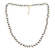 "Bellezza Black Spinel Bronze 24"" Dangle Necklace"